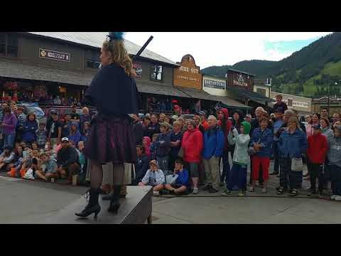 Gun fight in Jackson Hole Wyoming