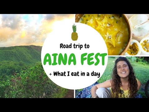 ROAD TRIP TO AINA FEST // WHAT I EAT IN A DAY (видео)