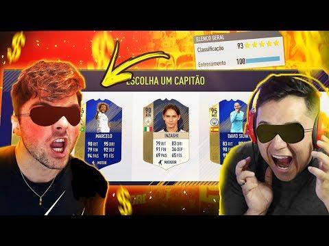 DESAFIO DRAFT ÀS CEGAS C/ AFINCO!!! INCRÍVEL!!! FIFA 18 FUT DRAFT!!