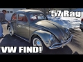 Classic VW BuGs 1957 Oval Ragtop Beetle Resto Find w Tow Bar Hook up