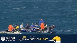 After identifying a shark near the lineup, Commissioner Kieren Perrow decides to put contest on hold for the day. Subscribe to the...
