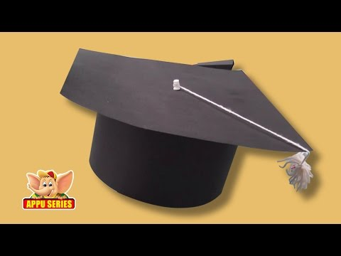 Learn to make a Graduation Cap - Arts & Crafts in Gujarati