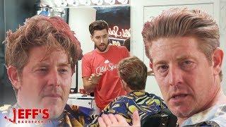 EMOTIONAL DAD GETS LIFE CHANGING HAIRCUT   JEFF's BARBERSHOP ft. Jason Nash