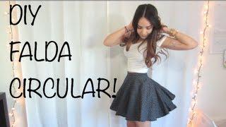 DIY - FALDA CIRCULAR! - YouTube