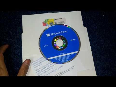 Unboxing DVD Installer Windows Server 2012 R2 OEM