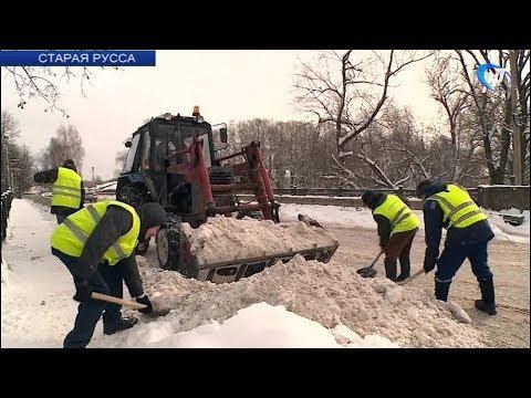Наша съемочная группа оценила уборку снега в Старой Руссе