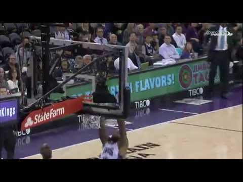 Display - Check out Demarcus Cousins as he shows off his handle and gets to the rim for the slam! About the NBA: The NBA is the premier professional basketball league in the United States and Canada....