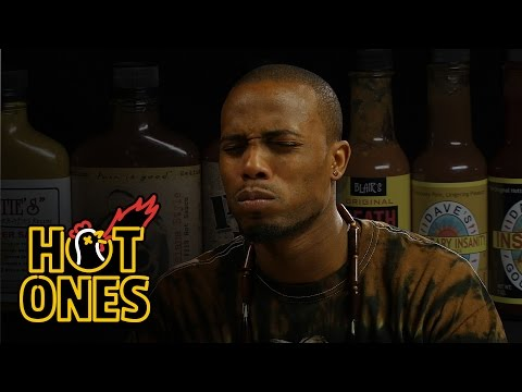 @BobATL Takes The Callenge While Eating Spicy Wings | Hot Ones