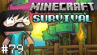 Minecraft : Survival Let's Play - Part 79 - Re-Linking Nether Portal w/ Redstone!