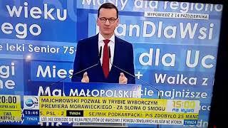 Morawiecki informuje w TVN 24, że M. Wassermann ma pomysły na likwidację smogu w Krakowie.