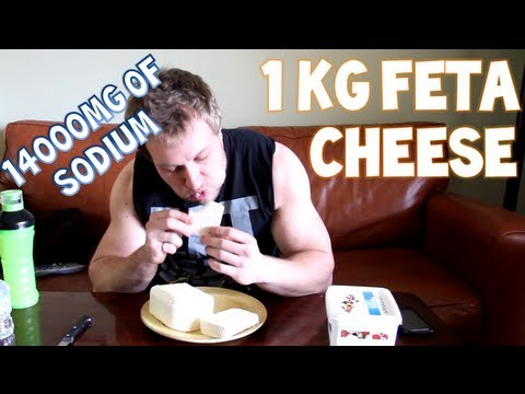 One Man. One Kilogram (2.2 lbs) of Feta Cheese | Furious Pete