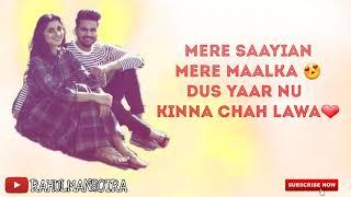 MERE SAAYIAN : Shahid Mallya ft.Kanika Mann   Shourya   Latest romantic whatsapp status 2k18