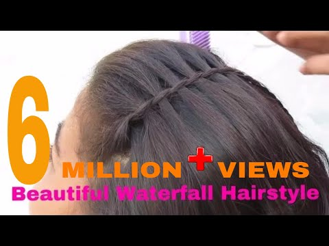 Beautiful Waterfall Hairstyle Simple Hairstyle