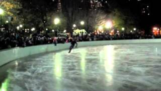 Ross Miner, 2009 US Junior men's champion, skating at the Frog Pond Opening Show in Boston, 11/21/10.