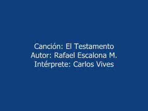 El Testamento Musica Colombiana Carlos Vives