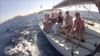 Школа танцев на яхте, Первая танцевальная школа на регате в Греции