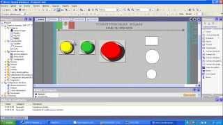 HMI WINCC programación de pantalla HMI y simulación en STEP7