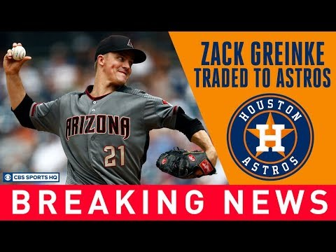 Video: Astros trade for Zack Greinke at the DEADLINE | CBS Sports HQ