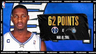 Wizards @ Magic: Tracy McGrady explodes for career-high 62 PTS on March 10, 2004 #NBATogetherLive by NBA
