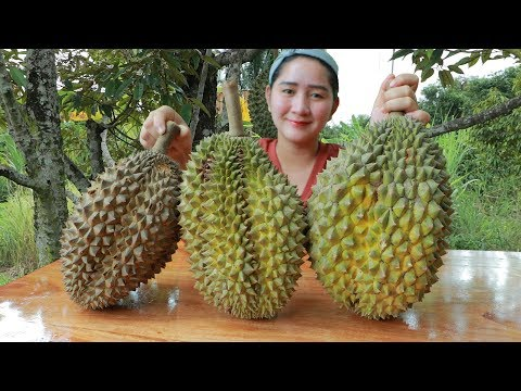 Yummy Durian Cream Dessert Cooking - Durian Dessert - Cooking With Sros
