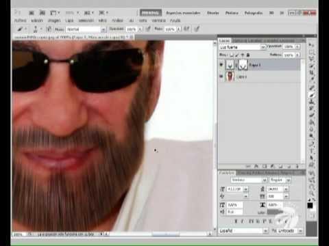 Hacer implante de cabello y coloreado de barba en photoshop CS5