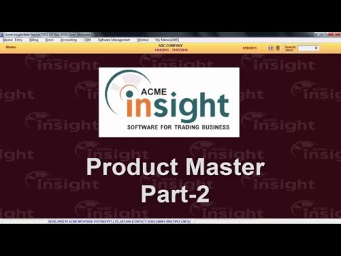 Product Master Part - 2