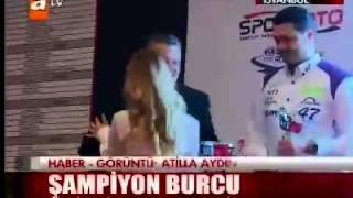 Burcu Burkut Erenkul - ATV - Ana Haber Bülteni - Tosfed Şampiyonlar Gecesi - 2013