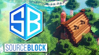 Minecraft SourceBlock SMP - FOREST COTTAGE BUILD w/ fWhip!