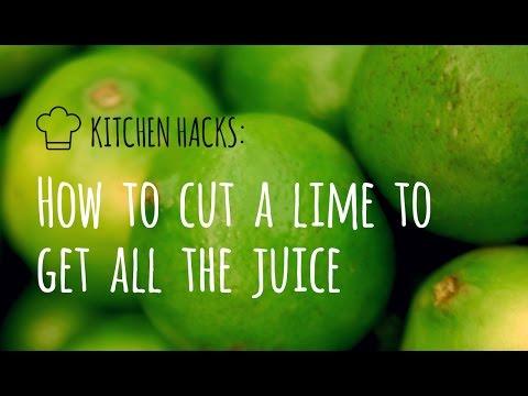 come tagliare un lime per ottenere tutto il succo