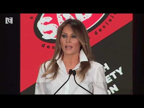 Melania Trump speaks at youth empowerment event