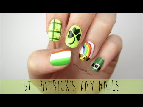 Guide - Nail Art for St. Patrick's Day: A Mini Guide! Five fun and festive designs to help you celebrate St. Paddy's Day :) Use the hashtag #cutepolish to show me yo...