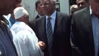 وزير النقل ومحافظ جنوب سيناء فى وداع المعتمرين بنويبع