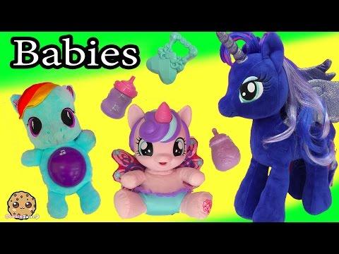 MLP Princess Luna Babysit My Little Pony Flurry Heart, Rainbow Dash + Baby Alive Babies