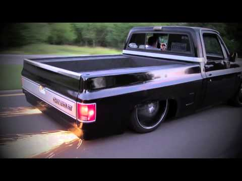 Trent Eschete's '87 Chevy C10 with model Dani Felli