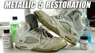 Video Jordan Metallic 5 Full Restoration! A Quick Thrift Fix! MP3, 3GP, MP4, WEBM, AVI, FLV Maret 2019
