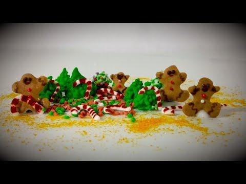 DIY Christmas Sprinkles (Gingerbread Man,3d Christmas Tree, Candy Canes) - Zuccherini Natalizi DIY