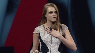 Cara Delevingne  - Model of The Year - British Fashion Awards 2014