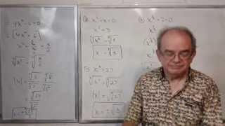 Algebra Intermedia - Lección 38 - A (resolviendo Ecuaciones Puras O Incompletas)