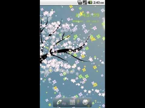 Video of flower5 Live Wallpaper lite