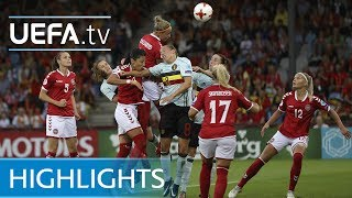See how Denmark got off to a winning start at UEFA Women's EURO 2017 by beating Belgium 1-0.http://www.youtube.com/subscription_center?add_user=uefaFacebook: https://www.facebook.com/uefacomTwitter: https://twitter.com/UEFAcomG+: https://plus.google.com/+UEFAcomhttp://uefa.com