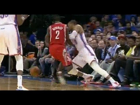 Pat Beverley strips Westbrook, leads to Harden layup
