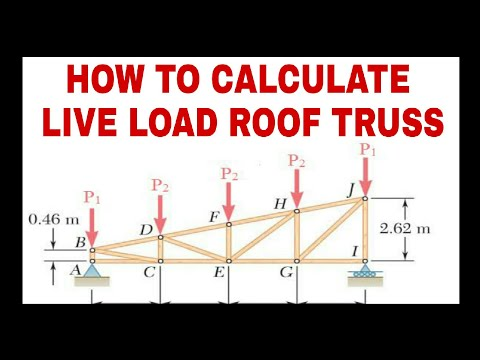 Live Load calculations on Roof Truss - Civiconcept