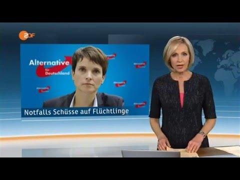 AfD: Frauke Petry - Auf Flüchtlinge (+KINDER) schießen! ...