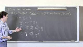 Trigonometric Equations Multiple Angles 0 To 2pi Restriction