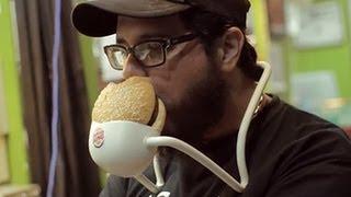 Le premier kit mains libres pour burgers