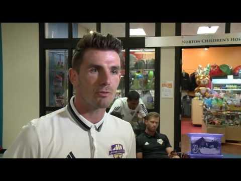 Louisville City FC Players visit Norton Children's Hospital