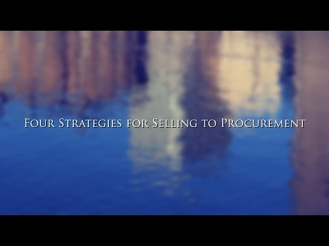 Four Strategies for Selling to Procurement