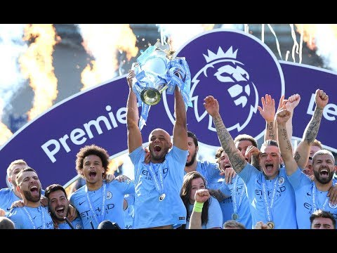 Manchester City Celebrate Winning The Premier League 2019