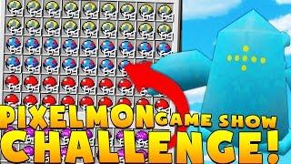 Minecraft PIXELMON GAME SHOW MINIGAME CHALLENGE - Pokemon Modded Battle Minigame