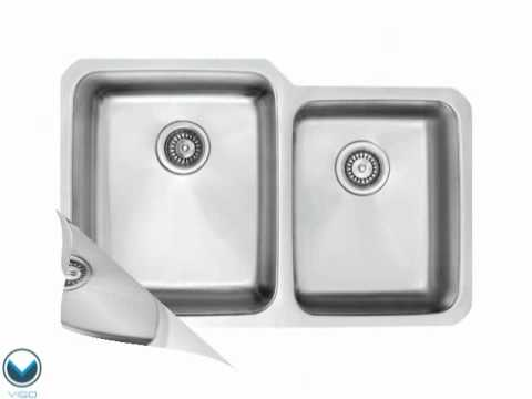 Video for 32-Inch Undermount Stainless Steel 18 Gauge Double Bowl Kitchen Sink